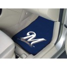"Milwaukee Brewers 17"" x 27"" Carpet Auto Floor Mat (Set of 2 Car Mats)"