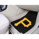 "Pittsburgh Pirates 17"" x 27"" Carpet Auto Floor Mat (Set of 2 Car Mats)"