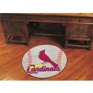 """27"""" Round St. Louis Cardinals Baseball Mat"""