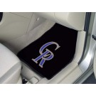 "Colorado Rockies 17"" x 27"" Carpet Auto Floor Mat (Set of 2 Car Mats)"