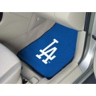 "Los Angeles Dodgers 17"" x 27"" Carpet Auto Floor Mat (Set of 2 Car Mats)"