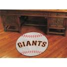 "27"" Round San Francisco Giants Baseball Mat"