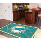 Miami Dolphins 5' x 8' Area Rug