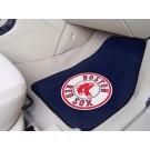 """Boston Red Sox 17"""" x 27"""" Carpet Auto Floor Mat (Set of 2 Car Mats)"""