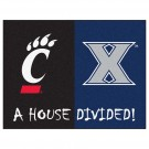 "Xavier Musketeers and Cincinnati Bearcats 34"" x 45"" House Divided Mat"