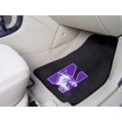 "Northwestern Wildcats 17"" x 27"" Carpet Auto Floor Mat (Set of 2 Car Mats)"