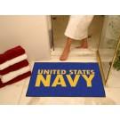 """Navy Midshipmen 34"""" x 45"""" All Star Floor Mat"""