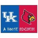 """Kentucky Wildcats and Louisville Cardinals 34"""" x 45"""" House Divided Mat"""