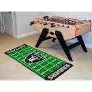 "Oakland Raiders 30"" x 72"" Football Field Runner"
