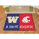 "Washington Huskies and Washington State Cougars 34"" x 45"" House Divided Mat"