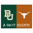 "Baylor Bears and Texas Longhorns 34"" x 45"" House Divided Mat"