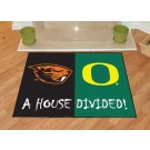 "Oregon Ducks and Oregon State Beavers 34"" x 45"" House Divided Mat"