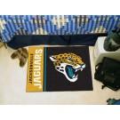 """Jacksonville Jaguars 19"""" x 30"""" Uniform Inspired Starter Floor Mat"""