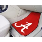 "Alabama Crimson Tide 17"" x 27"" Carpet Auto Floor Mat (Set of 2 Car Mats - Crimson 'A')"