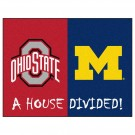 "Ohio State Buckeyes and Michigan Wolverines 34"" x 45"" House Divided Mat"