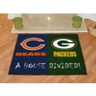"Chicago Bears and Green Bay Packers 34"" x 44.5"" House Divided Ma"