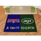"New York Giants and New York Jets 34"" x 44.5"" House Divided Mat"