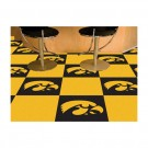 "Iowa Hawkeyes 18"" x 18"" Carpet Tiles (Box of 20)"