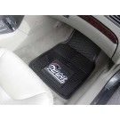 "New England Patriots 17"" x 27"" Heavy Duty 2-Piece Vinyl Car Mat Set"