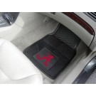 "Alabama Crimson Tide 17"" x 27"" Heavy Duty 2-Piece Vinyl Car Mat Set (Crimson 'A')"