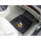 "Minnesota Vikings 17"" x 27"" Heavy Duty 2-Piece Vinyl Car Mat Set"