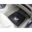"Milwaukee Brewers 17"" x 27"" Heavy Duty 2-Piece Vinyl Car Mat Set"