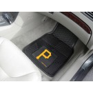 "Pittsburgh Pirates 17"" x 27"" Heavy Duty 2-Piece Vinyl Car Mat Set"