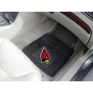 "Arizona Cardinals 17"" x 27"" Heavy Duty 2-Piece Vinyl Car Mat Set"