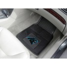 "Carolina Panthers 17"" x 27"" Heavy Duty 2-Piece Vinyl Car Mat Set"