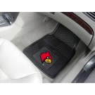 "Louisville Cardinals 17"" x 27"" Heavy Duty 2-Piece Vinyl Car Mat Set"