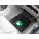 "Boston Celtics 17"" x 27"" Heavy Duty Vinyl Auto Floor Mat (Set of 2 Car Mats)"