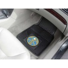 "Denver Nuggets 17"" x 27"" Heavy Duty Vinyl Auto Floor Mat (Set of 2 Car Mats)"