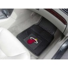 "Miami Heat 17"" x 27"" Heavy Duty Vinyl Auto Floor Mat (Set of 2 Car Mats)"