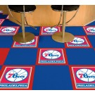 "Philadelphia 76ers 18"" x 18"" Carpet Tiles (Box of 20)"