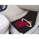 """Miami Heat 18"""" x 27"""" Auto Floor Mat (Set of 2 Car Mats - Black)"""