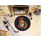 "Ottawa Senators 27"" Round Puck Mat"
