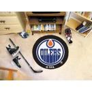 "Edmonton Oilers 27"" Round Puck Mat"