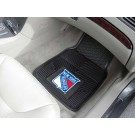 "New York Rangers 17"" x 27"" Heavy Duty Vinyl Auto Floor Mat (Set of 2 Car Mats)"