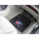 """Columbus Blue Jackets 18"""" x 27"""" Heavy Duty Vinyl Auto Floor Mat (Set of 2 Car Mats)"""