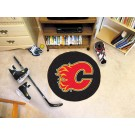 "Calgary Flames 27"" Round Puck Mat"