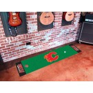 "Calgary Flames 18"" x 72"" Golf Putting Green Mat"