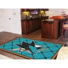 San Jose Sharks 5' x 8' Area Rug