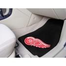 "Detroit Red Wings 18"" x 27"" Auto Floor Mat (Set of 2 Car Mats) (Black)"