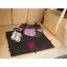 """Wisconsin Badgers 31"""" x 31"""" Heavy Duty Vinyl Cargo Mat"""
