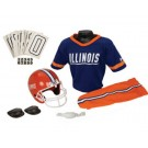 Franklin Illinois Fighting Illini DELUXE Youth Helmet and Football Uniform Set (Small)