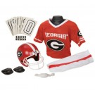 Franklin Georgia Bulldogs DELUXE Youth Helmet and Football Uniform Set (Medium)