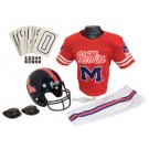 Franklin Mississippi (Ole Miss) Rebels DELUXE Youth Helmet and Football Uniform Set (Medium)
