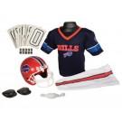 Franklin Buffalo Bills DELUXE Youth Helmet and Football Uniform Set (Small)