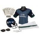 Franklin Seattle Seahawks DELUXE Youth Helmet and Football Uniform Set (Small)