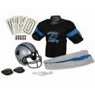 Franklin Carolina Panthers DELUXE Youth Helmet and Football Uniform Set (Small)